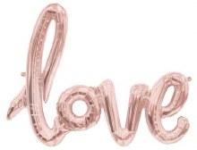 "AirFill LOVE Script ~ Rose Gold 30"""