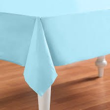 Blue Pastel Plastic Rectangle Tablecover