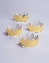 Mini Foil Crowns ~ 6 Pack