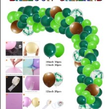 Balloon Garland Kit Green/Brown