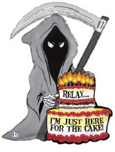 "Mylr 35"" Grim Reaper For Cake"