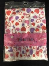 Hearts Pleated Tableskirt