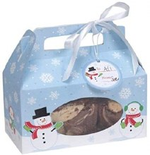 "Snowman Treat Box ~ 4 Pack/6""x3""x3.5"""