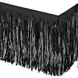 Black Fringe Table Skirt 30in x 14ft