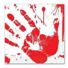 Bloody Handprint Lun Naps