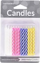 Candle Candy Striped Asst