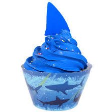 Shark Splash Cupcake Pick/Wrap