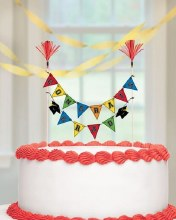 Grad Pick Banner Cake Decor