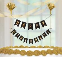 Gold Birthday Cake Pick