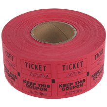 Ticket Roll Double Red