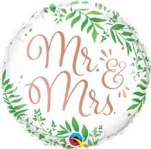 Mylr 18in Mr & Mrs Greenery