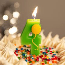 Candle 4 w/ Balloon