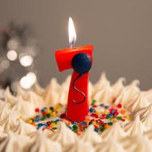 Candle 7 w/ Balloon