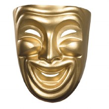 Mask Comedy Adult Gold