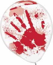 Balloons Blood Splatter Print