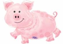 "Jumbo Pig ~ 35"""