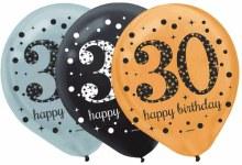 Sparkling 30 Balloons