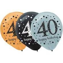 Sparkling 40 Balloons