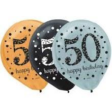 Sparkling 50 Balloons