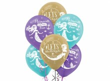 Mermaid Wishes Balloon Bundle ~ 6 Pack 11""