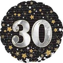 "Gold & Silver Stars 30 ~ 17"""