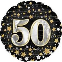 "Gold & Silver Stars 50 ~ 17"""
