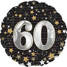 "Gold & Silver Stars 60 ~ 17"""