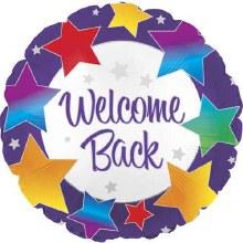 "Welcome Back w/ Rainbow Stars ~ 18"""