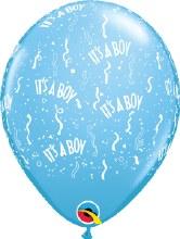 "Baby Boy Blue Light ""It's A Boy"" ~ Matte Finish 11"""