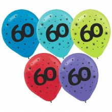 Age 60 Balloon Bundle ~ 15 Count