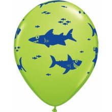 "Fun Sharks ~ GREEN LIME ~ 11"""