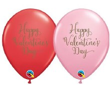 """Latex Balloon ~ Red OR Pink Happy Valentine's Day ~ 11"""""""