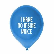 "Little Jerk 11"" Balloon ~ I Have No Inside Voice"