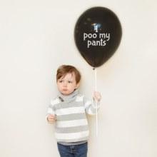 "Little Jerk 11"" Balloon ~ I Poo My Pants"