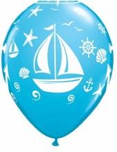 "Blue Robin's Egg Nautical/Sailboat/Anchor Print ~ Matte Finish 11"""
