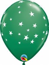 """Contempo Stars DARK GREEN ~ Matte Finish 11"""""""