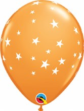 """Contempo Stars ORANGE ~ Matte Finish 11"""""""