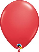 Latex Balloon 11in Matte Red