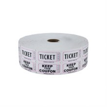 Ticket Roll Double White