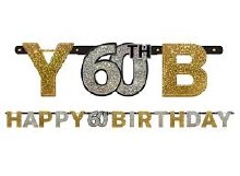 Sparkling 60th Birthday Banner
