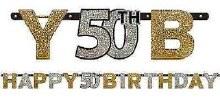 Sparkling 50th Birthday Banner