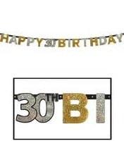 Sparkling 30th Birthday Banner