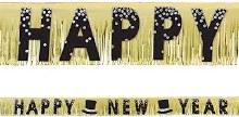 New Years Gold Fringe Banner