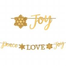 Banner Peace Love Joy Gld