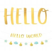 Oh Baby! Hello World Boy Banner