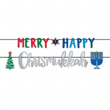 Merry Happy Chrismukkah Banner ~ 12'