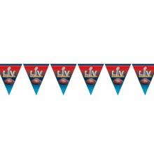 2021 Super Bowl Pennant Banner