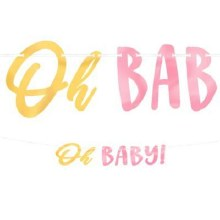 Oh Baby! Ribbon Banner Pink