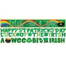 St Patricks Day 4pk Banner Kit