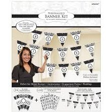 Damask Black/White Create-Your-Own Banner